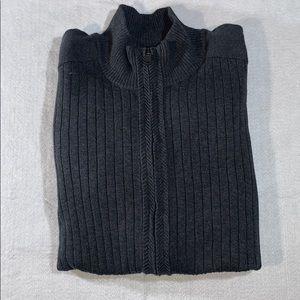 Mens Alfani Charcoal Rib Knit Mock Neck Sweater L